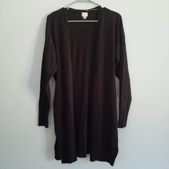 NWT A New Day™ Women/'s Striped Long Sleeve Colorblock Open Cardigan